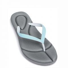 Women's light blue flip flops
