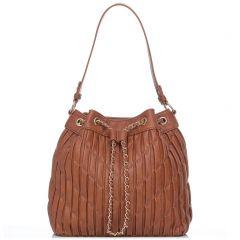 Ταμπά πλισέ τσάντα πουγκί
