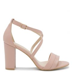 Pink high heel sandal