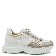 Gold monster sole sneaker