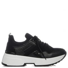 Black snake skin sneaker
