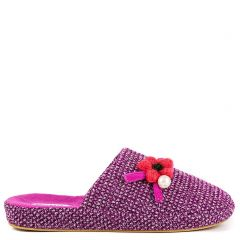 Purple slipper with flower