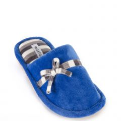Blue velvet slipper
