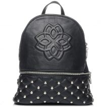 Black backpack with studs