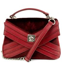 Bordeaux handbag with flap
