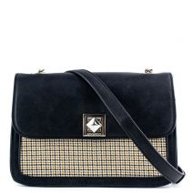 Black check handbag with a flap