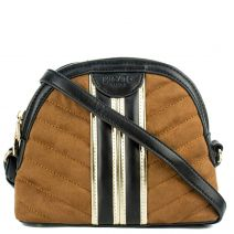 Tan quilted mini bag