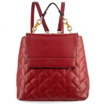 Bordeaux  quilted backpack