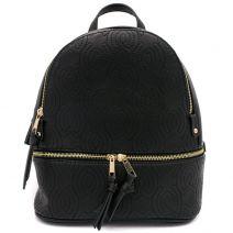 Μαύρο backpack με κέντημα
