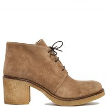 Taupe leather bootie