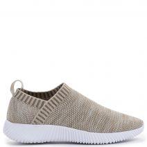 Μπεζ πλεκτό slip-on sneaker