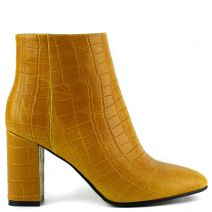 Κίτρινο ψηλοτάκουνο κροκό μποτάκι