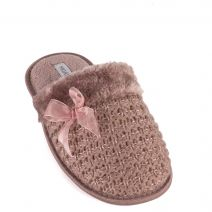 Taupe women's slipper