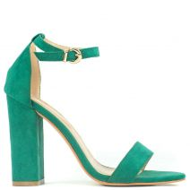 Green sandal in suede