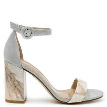 Grey marble effect sandal