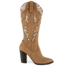 Brown western boot