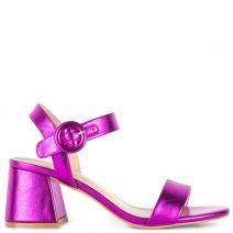 Fuchsia metallic sandal
