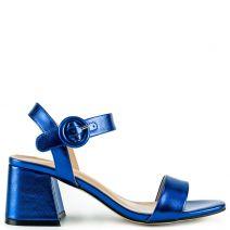 Royal blue metallic sandal