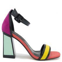 Colorblock heel sandal