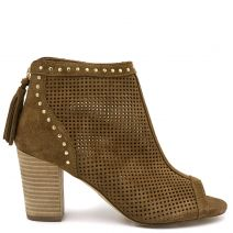 Tobacco suede  leather  bootie