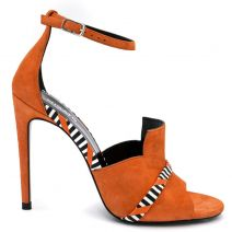 Orange leather sandal