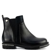 Kid's black Chelsea boot