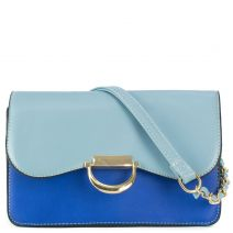 Shoulder bag in blue shades