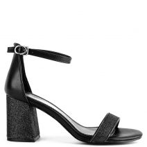 Black sandal with glitter