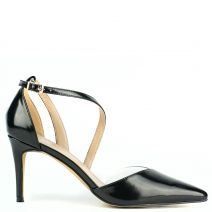 Black pump with clear PVC panels