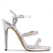 Silver high heel sandal