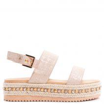 Beige flatform sandal