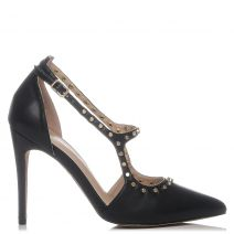 Black pump with studs