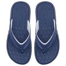 Men's navy flip-flop with embossed design