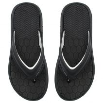 Men's grey flip-flop with embossed design