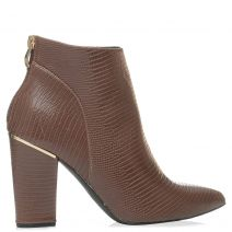 Brown high heel bootie