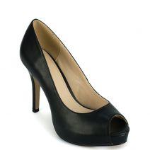 Μαύρη peep toe γόβα