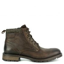 Men's brown leather low cut boot