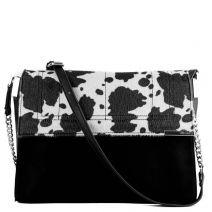 Μαύρη τσάντα με animal καπάκι