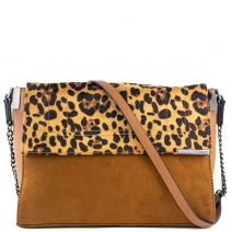 Tan bag with animal flap