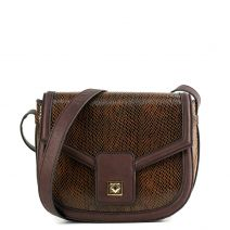 Brown bag with flap