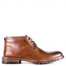 Brown leather men's low cut boot