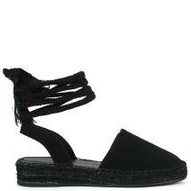 Μαύρη lace-up εσπαντρίγια