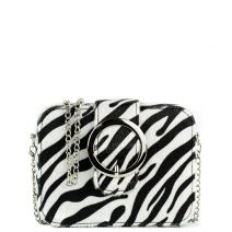 Black and white zebra clutch