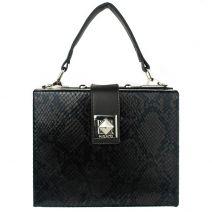 Black snake mini box bag