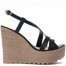Black multistrap platform