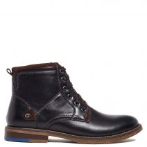 Men's black bootie with laces