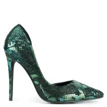 Green metallic pump