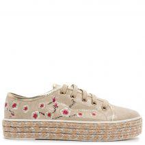 Χρυσό sneaker με λουλούδια