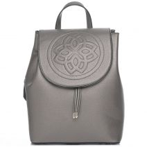 Pewter backpack with flap