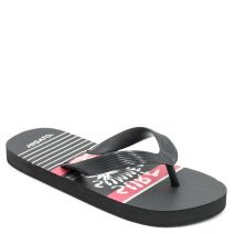 Kid's black flip-flop with insole print